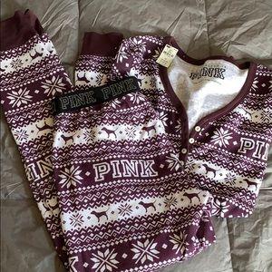 Pink Victoria's Secret sleep wear